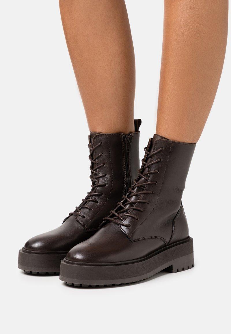 Zign - Platform ankle boots - brown