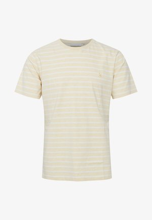 T-shirt med print - mellow yellow melange
