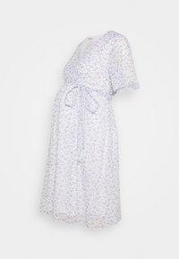 Glamorous Bloom - PIN SPOT WRAP DRESS - Day dress - white/lavender - 0