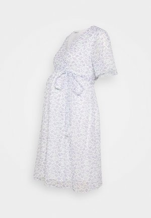 PIN SPOT WRAP DRESS - Denní šaty - white/lavender