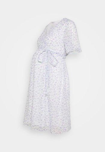 PIN SPOT WRAP DRESS
