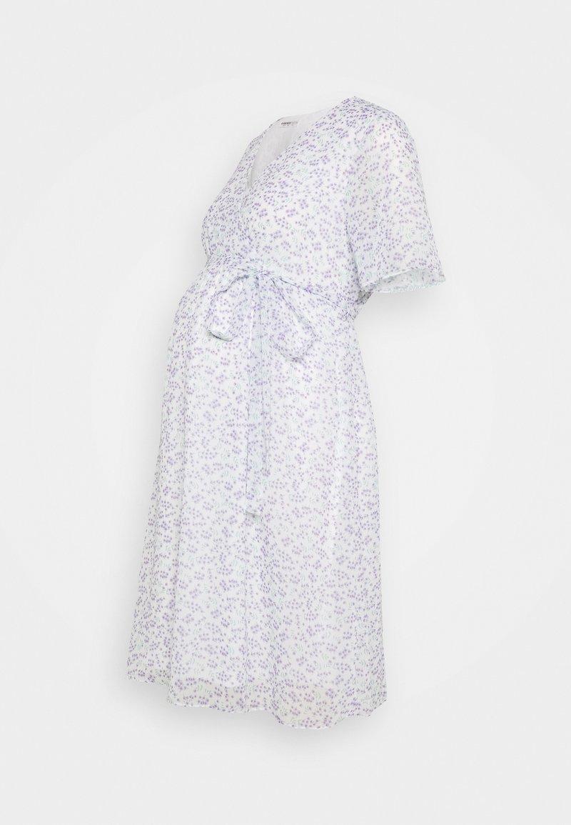 Glamorous Bloom - PIN SPOT WRAP DRESS - Day dress - white/lavender