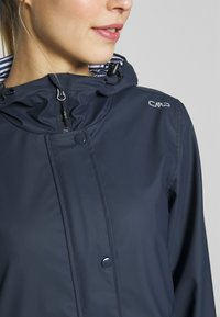 CMP - RAIN JACKET FIX HOOD - Impermeable - black blue - 5