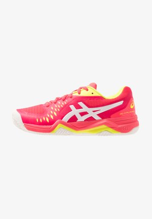 GEL CHALLENGER 12 CLAY - Clay court tennis shoes - laser pink/white