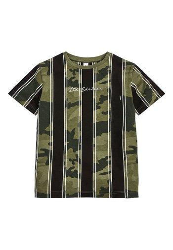 CAMOUFLAGE VERTICAL STRIPE T-SHIRT (3-16YRS) - Print T-shirt - green