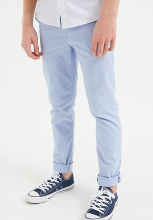 MET STRUCTUUR - Chinos - pastel blue