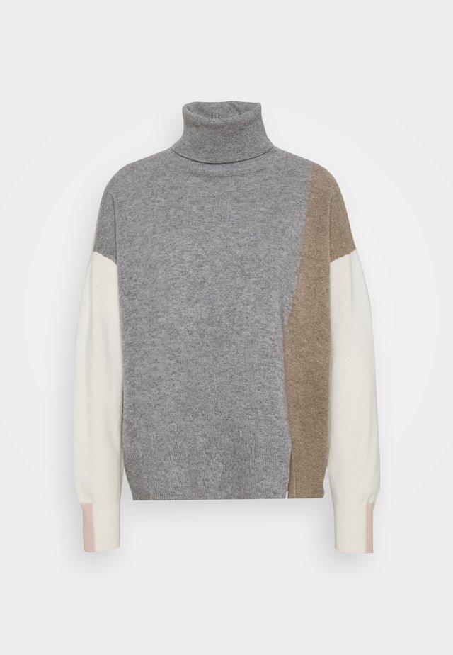 LAYLA ROLLNECK - Sweter - grey melange