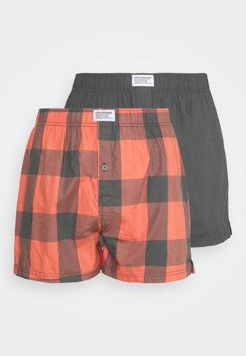 MEN CHECK 2 PACK - Boxer shorts - red