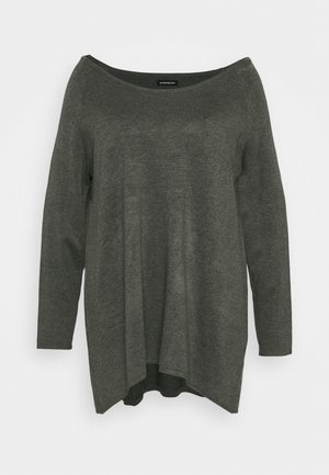 Strikkegenser - dark grey