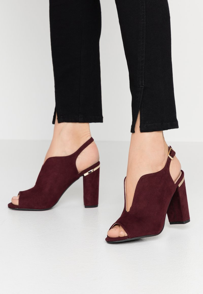 Dorothy Perkins - SKYLAR - High heeled sandals - burgundy