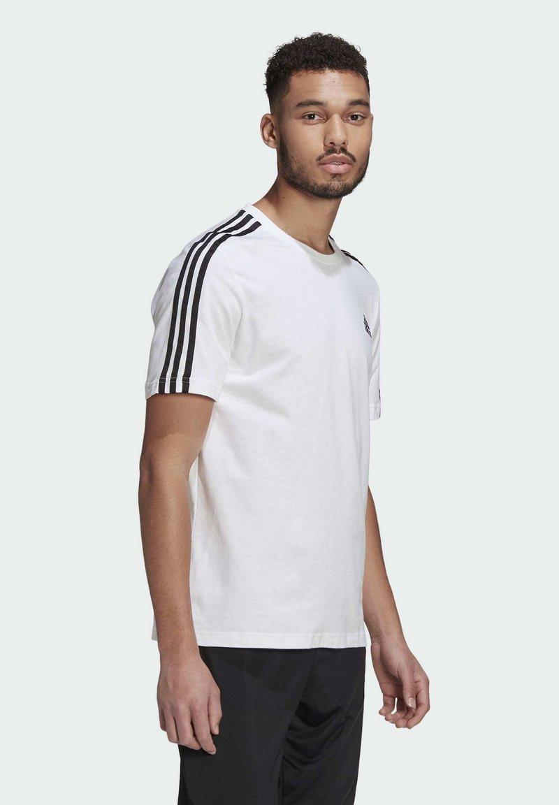 adidas Performance - T-shirt imprimé - white/black