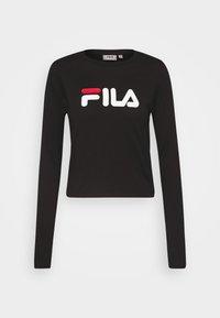 Fila Tall - MARCELINE LONG SLEEVED CROPPED - Long sleeved top - black - 3