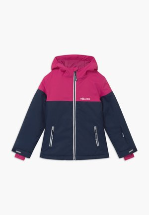 GIRLS HALLINGDAL - Snowboard jacket - navy/pink/white