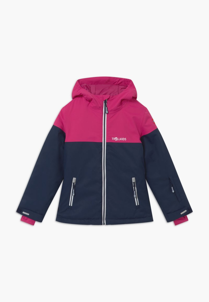 TrollKids - GIRLS HALLINGDAL - Snowboard jacket - navy/pink/white