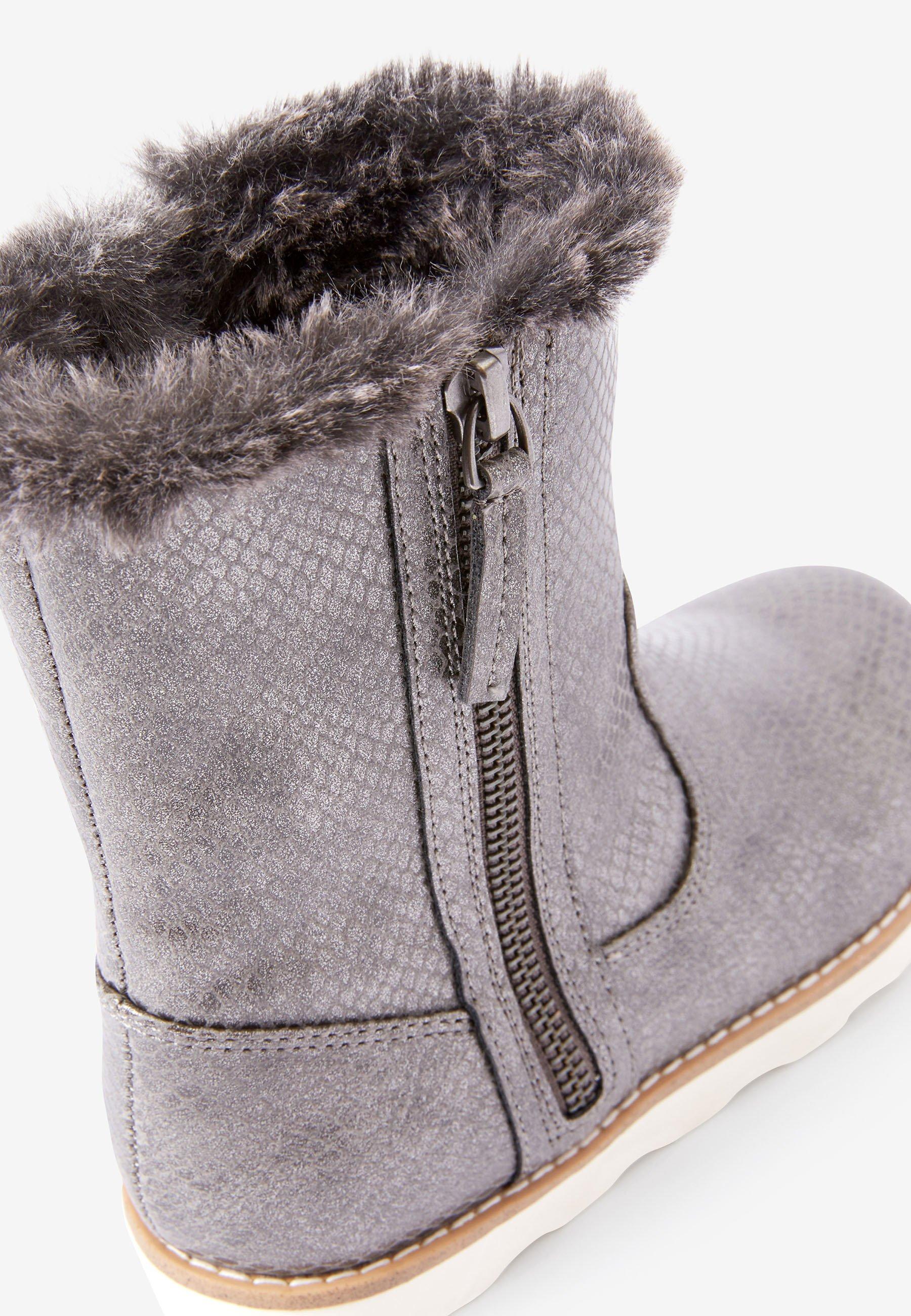 Tania cena Najlepsza cena Next Śniegowce - metallic grey | Dzieci Obuwie 2020 h2k2w