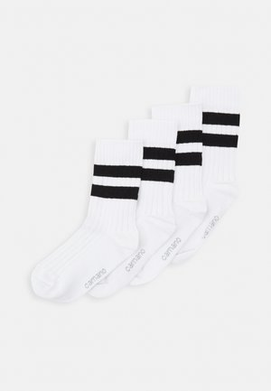 4 PACK UNISEX - Ponožky - white