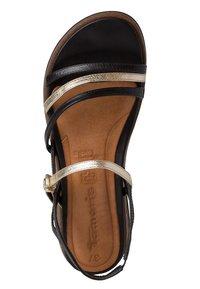 Tamaris - Wedge sandals - black/gold - 2