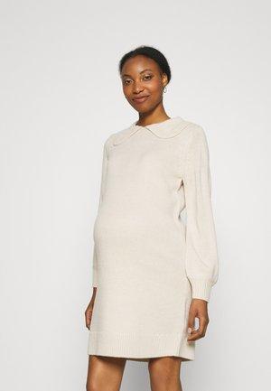 OLMLEXA COLLAR DRESS - Stickad klänning - pumice stone
