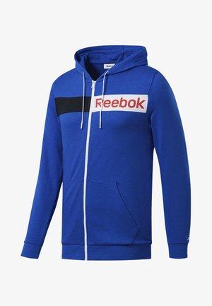 TRAINING ESSENTIALS LINEAR LOGO HOODIE - Zip-up hoodie - humble blue