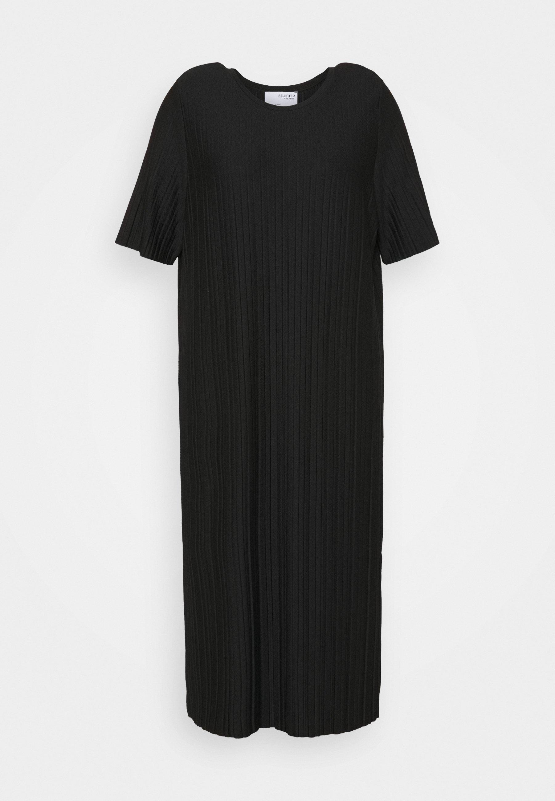 Women SLFTERL MIDI PLISSE DRESS CURVE - Day dress