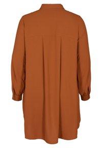 Zizzi - Button-down blouse - brown - 4