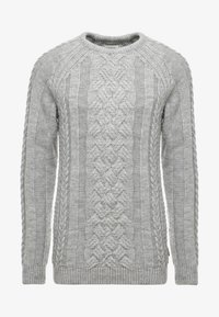 Pier One - CHUNKY CABLE KNIT - Svetr - mottled light grey - 3