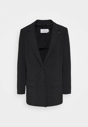 THROW ON TRAV - Short coat - black