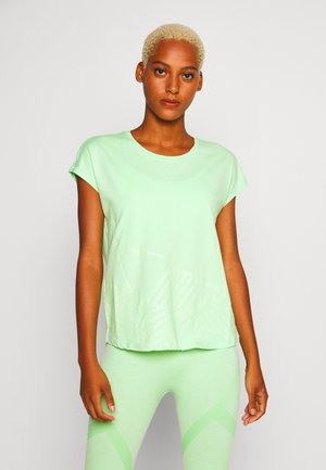 ONPMAGDALENA LOOSE TRAINING TEE - T-shirt z nadrukiem - green ash