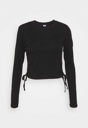 RUCHED  - Langarmshirt - black