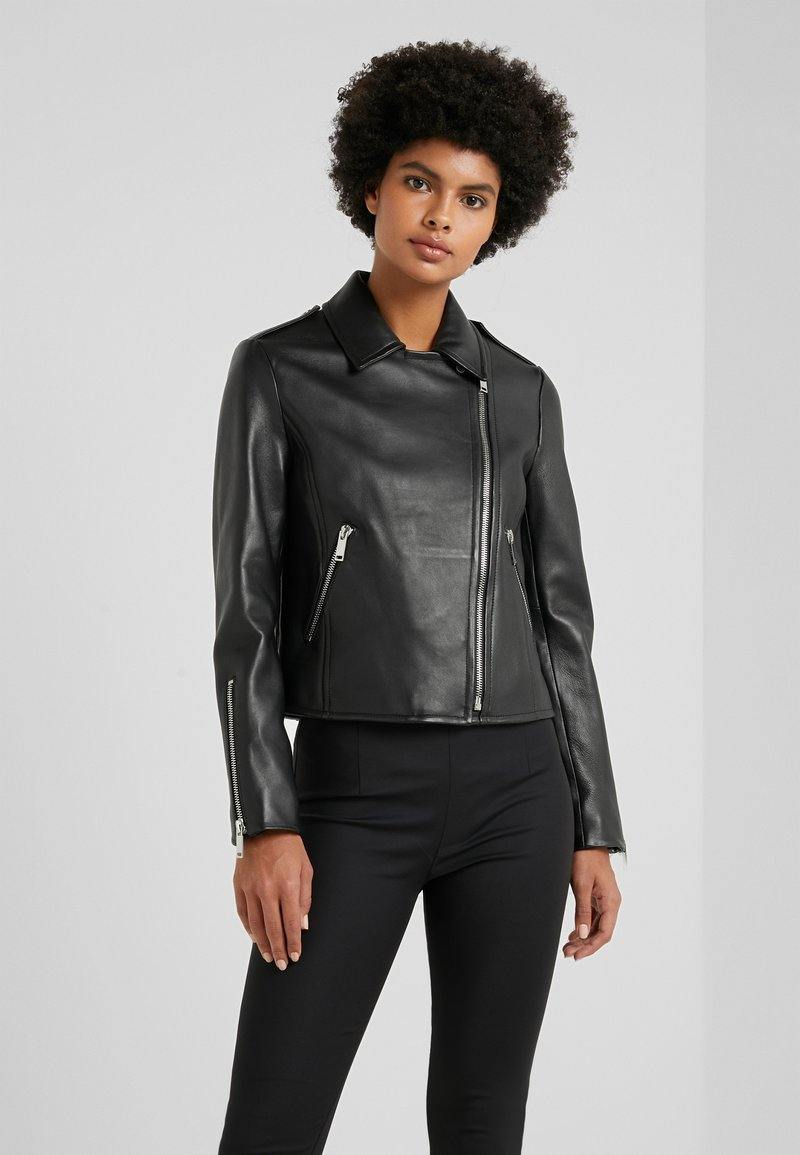 WEEKEND MaxMara - UNICUM - Leather jacket - schwarz