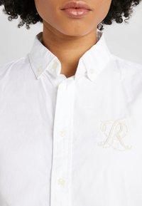 Polo Ralph Lauren - BRIA LONG SLEEVE - Košile - white - 5