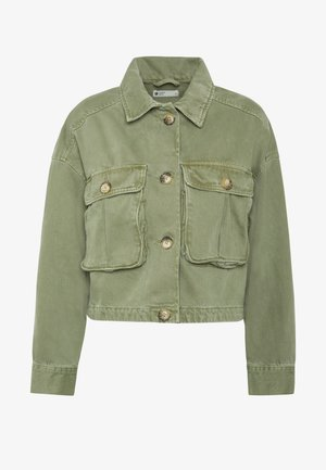 CARGO JACKET - Denim jacket - cargo green