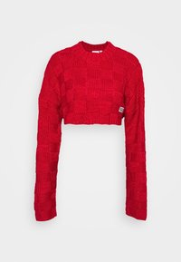 The Ragged Priest - CHUNKY WAFFLE STITCH SUPER CROPPED  - Jumper - red - 4