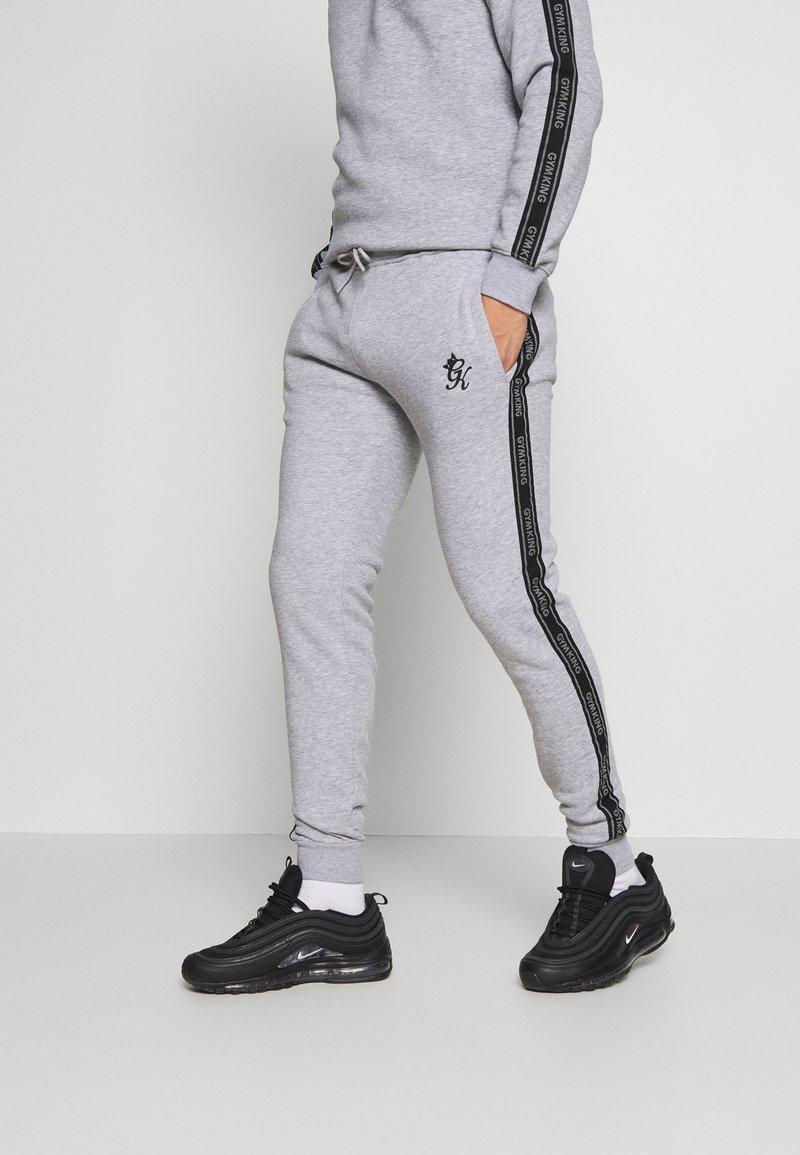 Gym King - WITH PRINTED TAPING - Trainingsbroek - grey marl /black