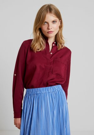 Button-down blouse - tile red