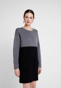Morgan - Strikket kjole - noir/gris - 0