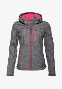 SD-WINDTREKKER  - Light jacket - storm gray speckled/sporty pink