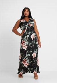 Anna Field Curvy - Robe longue - black/rose/dark green - 2