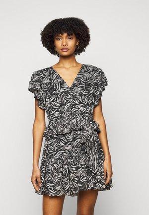 DRESS - Day dress - black/white