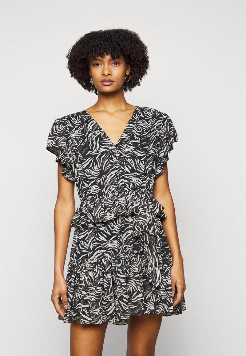 The Kooples - DRESS - Day dress - black/white