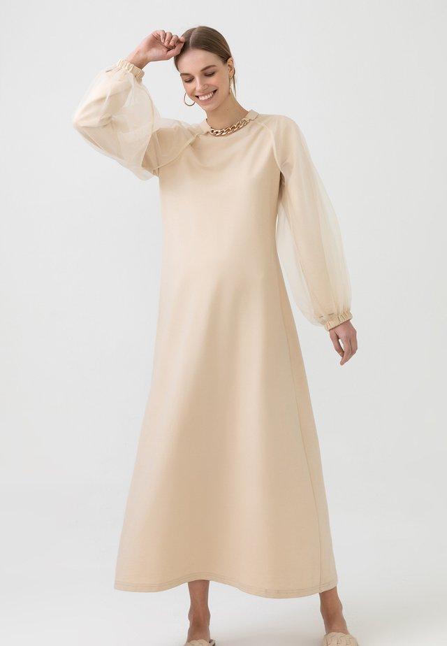 ORGANZA - Maxi-jurk - beige
