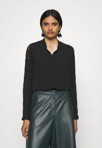 Vero Moda - VMZIGGA - Button-down blouse - black - 0
