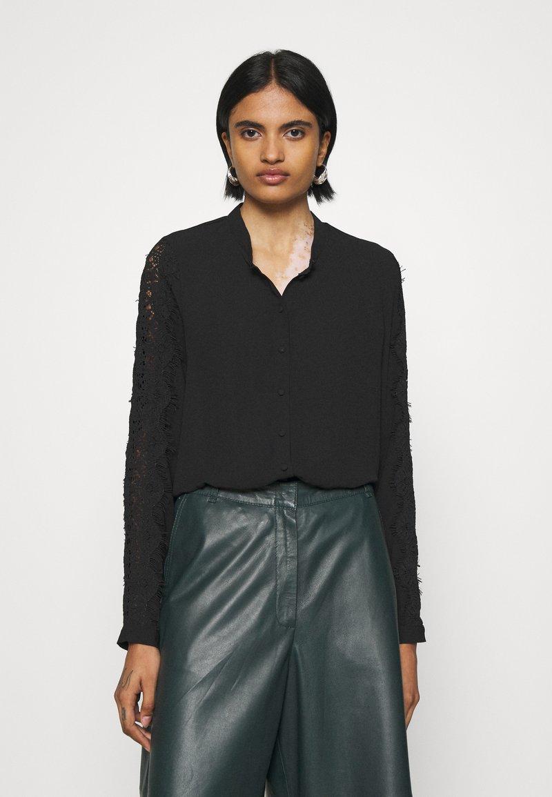 Vero Moda - VMZIGGA - Button-down blouse - black