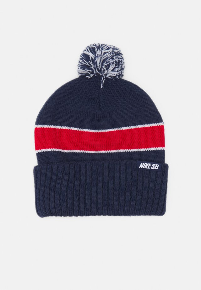 UTILITY BEANIE UNISEX - Lue - midnight navy/university red/white