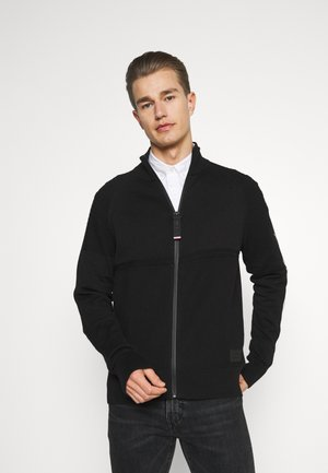 LOGO STRUCTURED ZIP THROUGH - Kofta - black