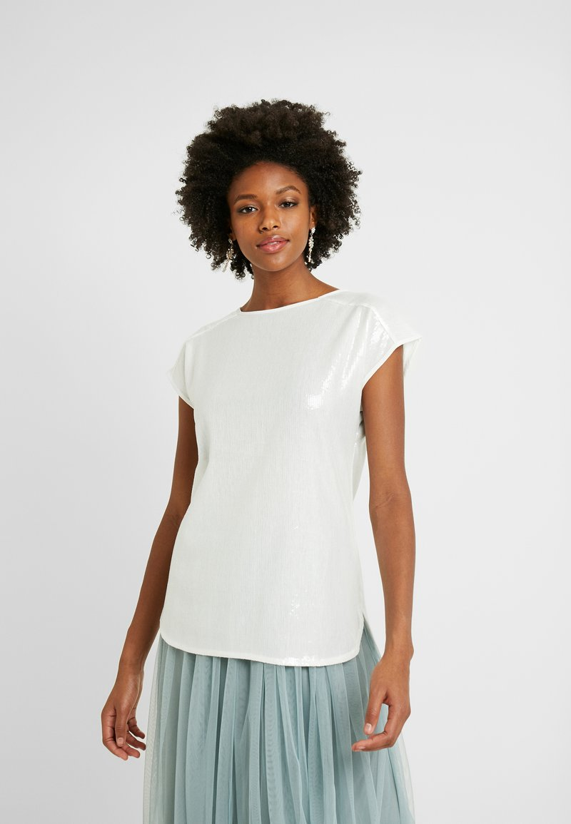 Dorothy Perkins Tall - SEQUIN TEE - Bluser - ivory
