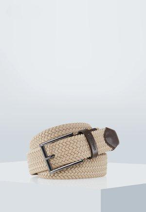 FLEX CROSS - FLECHTGÜRTEL - Braided belt - beige