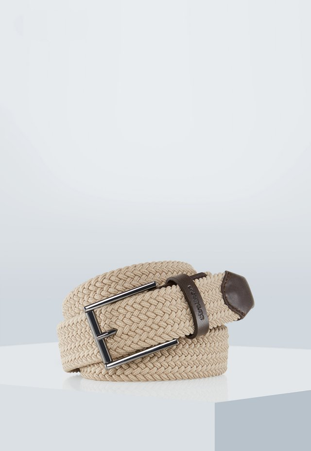 FLEX CROSS - FLECHTGÜRTEL - Braided belt - beige
