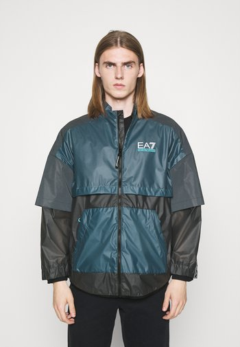 Summer jacket - black/teal
