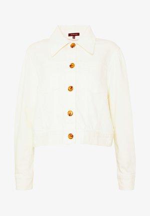 THE PUFF SLEEVE JACKET - Denim jacket - warm white